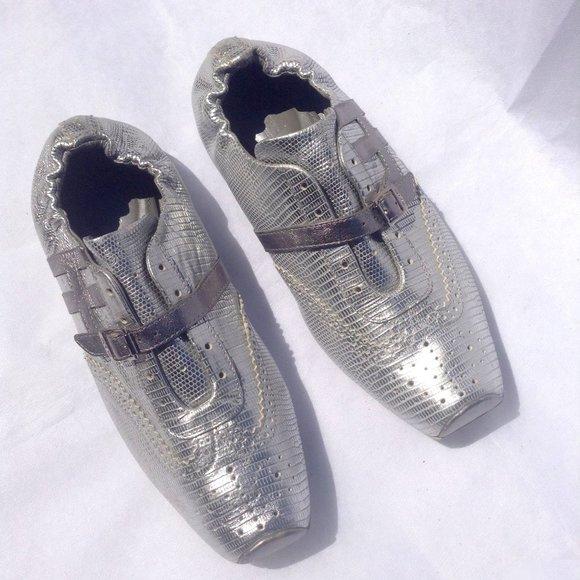 HOGAN PROGETTO Silver Metallic Sneakers